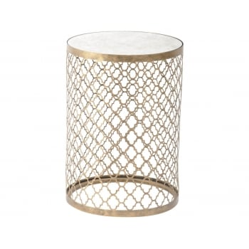 Mirrored Side Table, Round / Mirrored Furniture