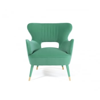 Munna Furniture Mid Century Armchair Babe, Green