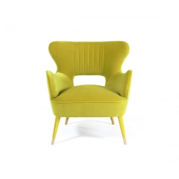 Munna Furniture Mid Century Armchair Babe, Lime
