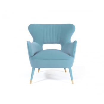 Munna Furniture Mid Century Armchair Babe, Blue
