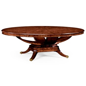 Jonathan Charles Furniture 8 Seater Oval Dining Table, Mahogany