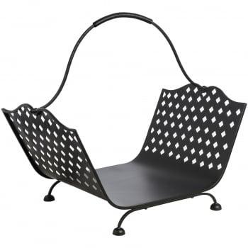 Black Iron Log Basket