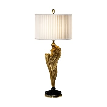 Jonathan Charles Furniture Designer Angel Wing Gilded Table Lamp
