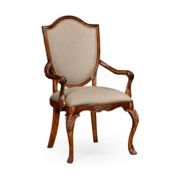 Jonathan Charles Furniture Upholstered Dining Armchair, Carved