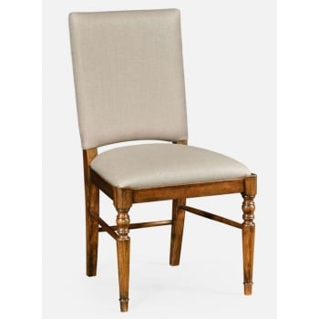 Jonathan Charles Furniture Country Walnut Upholstered Dining Chair