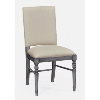 Jonathan Charles Furniture Dark Grey Upholstered Dining Chair