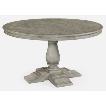 Jonathan Charles Furniture Grey Round Extending Dining Table 140cm - 182cm