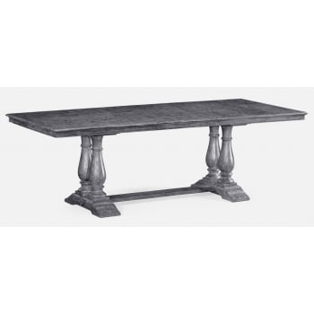 Jonathan Charles Furniture Dark Grey Rectangular Extending Dining Table 71''