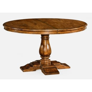 Jonathan Charles Furniture Walnut Round Extending Dining Table 140cm - 182cm
