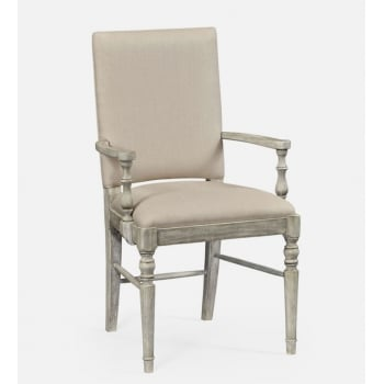 Jonathan Charles Furniture Rustic Grey Upholstered Dining Armchair