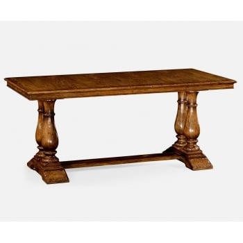 Jonathan Charles Furniture Rectangular Walnut Dining Table With Fixed Top 71''