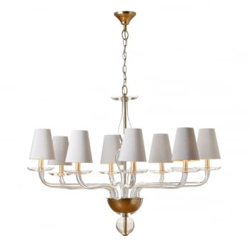 Villa Lumi Lighting Oval Shaded Glass Chandelier Lisbon to Athens
