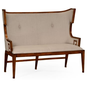 Jonathan Charles Furniture Upholstered Dining Bench, Walnut / Settee