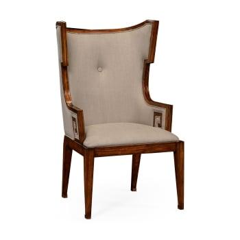Jonathan Charles Furniture Designer Wing Chair, Walnut