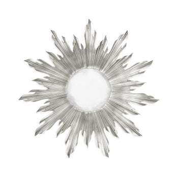 Jonathan Charles Furniture Designer Silver Sun Mirror