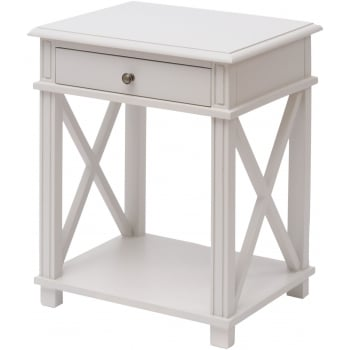 Painted Grey Bedside Table