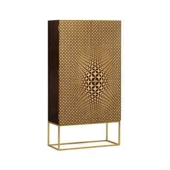 Jonathan Charles Furniture Designer 3D Geometric Cabinet