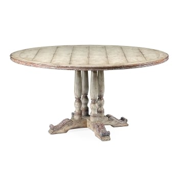 Jonathan Charles Furniture Grey Painted 8-Seater Dining Table