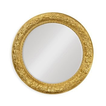 Jonathan Charles Furniture Large French Round Gilded Mirror