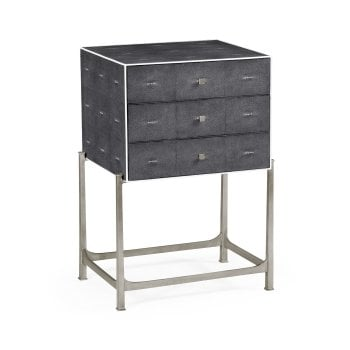 Jonathan Charles Furniture Luxury Grey Leather Chest of Drawers