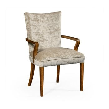 Jonathan Charles Furniture Upholstered Dining Armchair, Calico