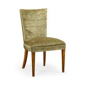 Jonathan Charles Furniture Dining Chair Biedermeier in Walnut, Lime
