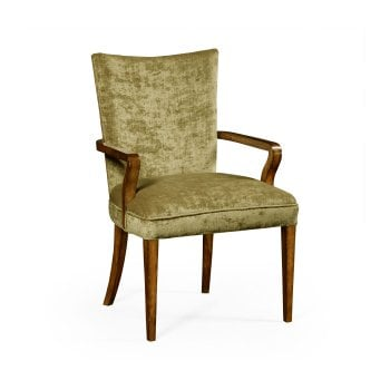 Jonathan Charles Furniture Dining Armchair Biedermeier in Walnut, Lime