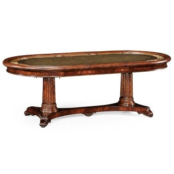 Jonathan Charles Furniture Large Mahogany Poker Table