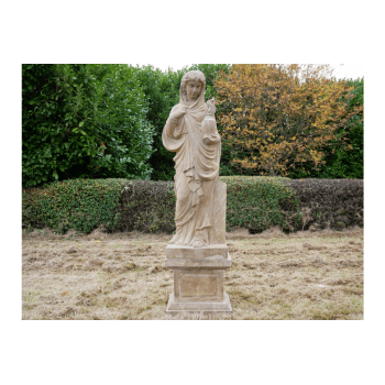Hand Carved Stone Lady Sculpture