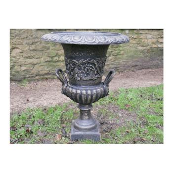 Black Planter Urn In Bronze Finish