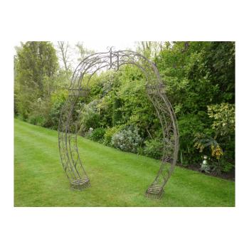 Metal Garden Arch Ideal For Wedding Days, Brown