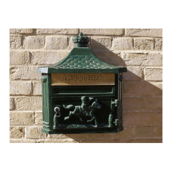 Wall Mounted Mailbox / Green Letterbox