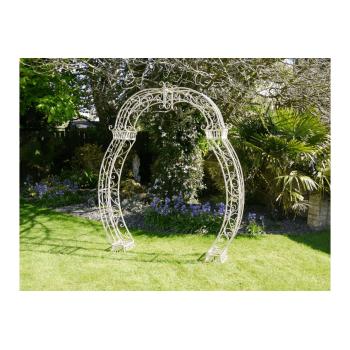 Metal Garden Arch Ideal For Wedding Days, Cream