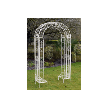 Metal White Garden Arch Ideal For Roses