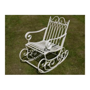 White Rocking Garden Chair