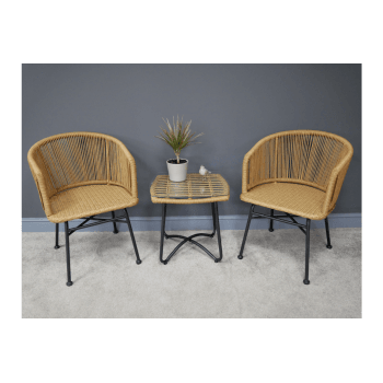 Rattan Table And 2 Chairs