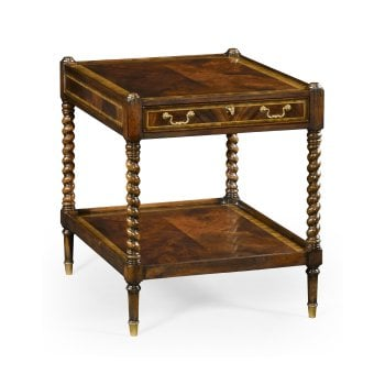 Jonathan Charles Furniture Regency Style Mahogany Lockable Bedside Table