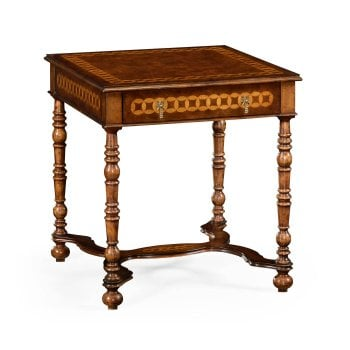 Jonathan Charles Furniture Luxury Walnut Bedside Table With Drawer