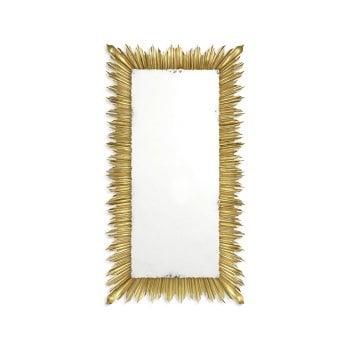 Jonathan Charles Furniture Luxury Gold Floor Standing Sunburst Mirror