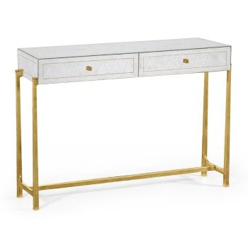 Jonathan Charles Furniture Mirrored Gold Console Table With 2 Drawers