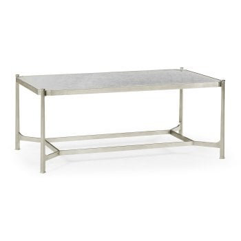 Jonathan Charles Furniture Luxury Silver Glass Coffee Table