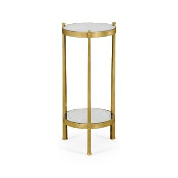 Jonathan Charles Furniture Luxury Small Glass Wine Table, Gold
