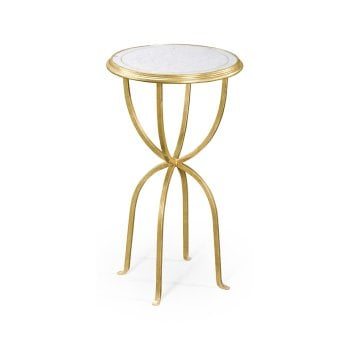 Jonathan Charles Furniture Luxury Small Mirrored Wine Table, Gold