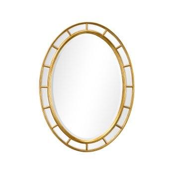 Jonathan Charles Furniture Luxury Designer Oval Gold Wall Mirror