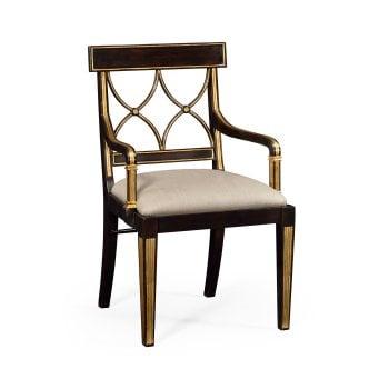 Jonathan Charles Furniture Regency Black Dining Armchair