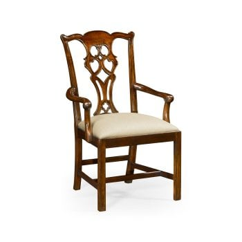 Jonathan Charles Furniture Chippendale Mahogany Dining Armchair
