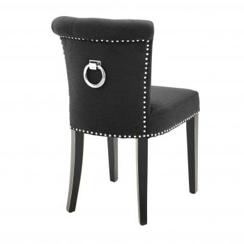 Eichholtz Furniture Black Dining Chair Key Largo, Cashmere
