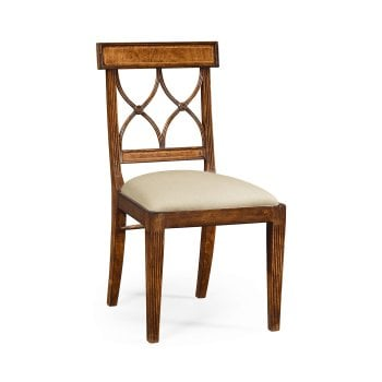 Jonathan Charles Furniture Regency Walnut Side Dining Chair