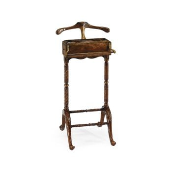 Jonathan Charles Furniture Clothes Valet Stand With Box, Mahogany