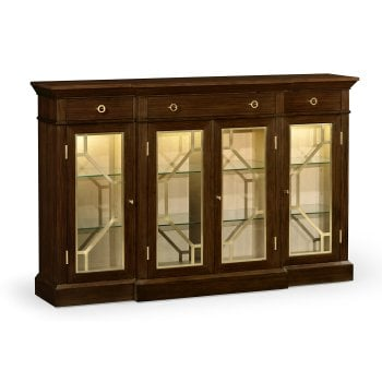 Jonathan Charles Furniture Luxury Dark Rosewood Four–Door Display Cabinet